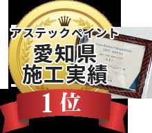 アステックペイント愛知県施工実績3位