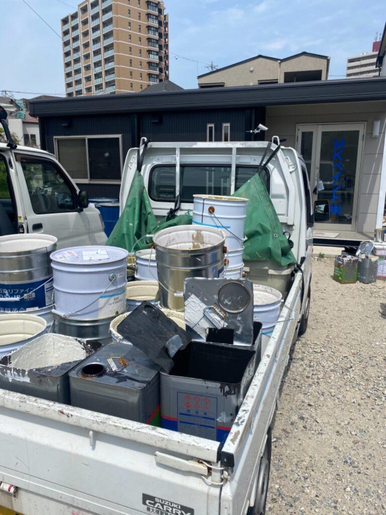 月に1度の塗料缶整理